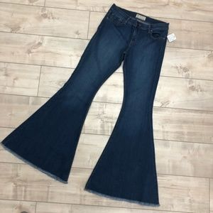 Free People Wide Leg Denim Jeans NWT $78 Size 31